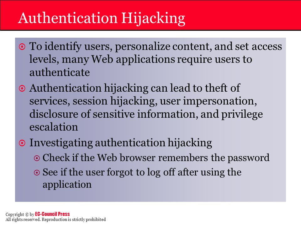 Authentication Hijacking