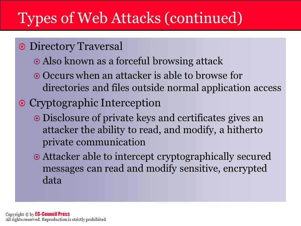Types of Web Attacks (continued)