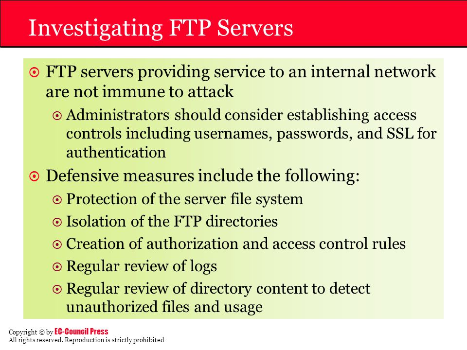 Investigating FTP Servers