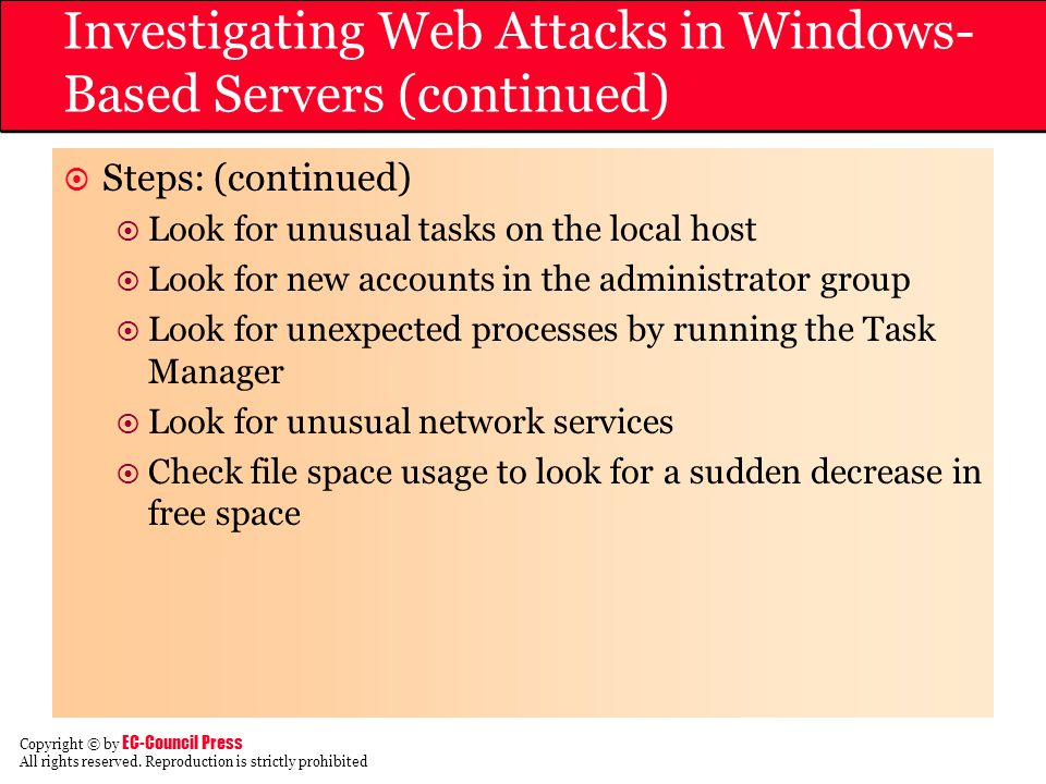 Investigating Web Attacks in Windows-Based Servers (continued)
