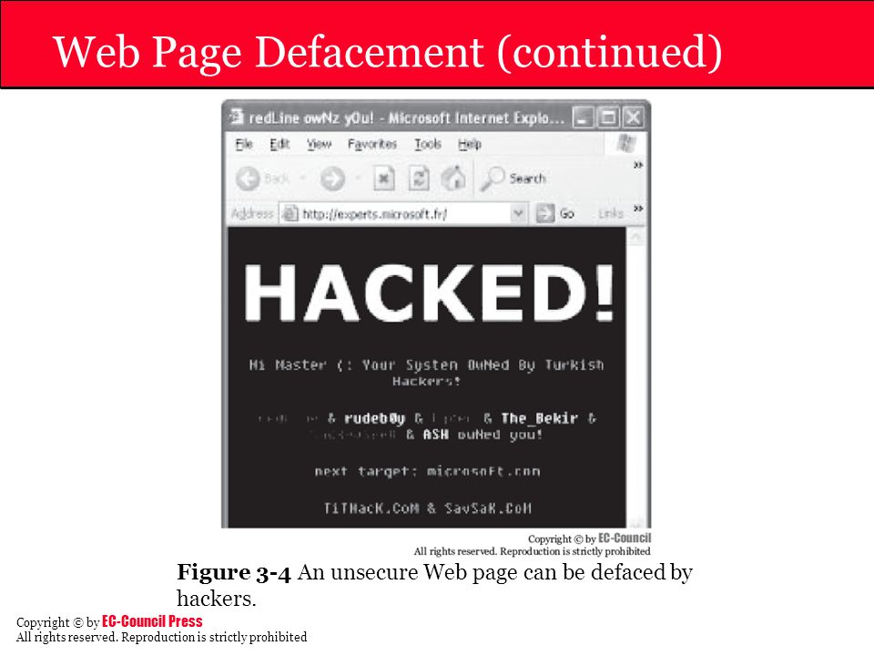 Web Page Defacement (continued)