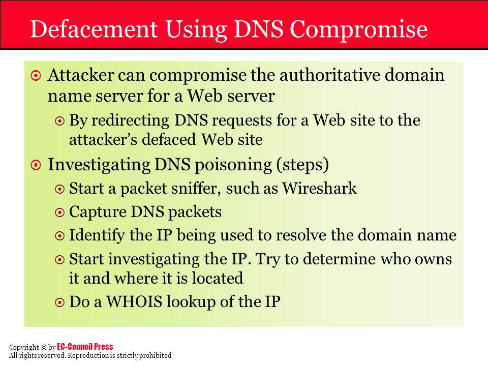 Defacement Using DNS Compromise