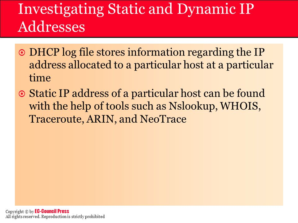 Investigating Static and Dynamic IP Addresses