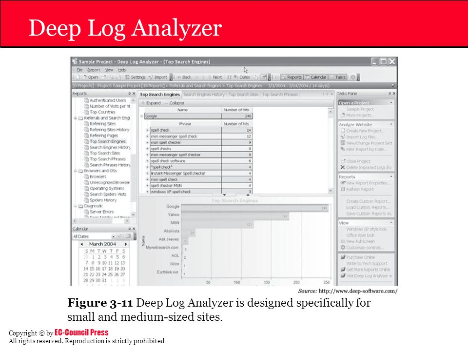 Deep Log Analyzer Figure 3-11 Deep Log Analyzer is designed specifically for small and medium-sized sites.