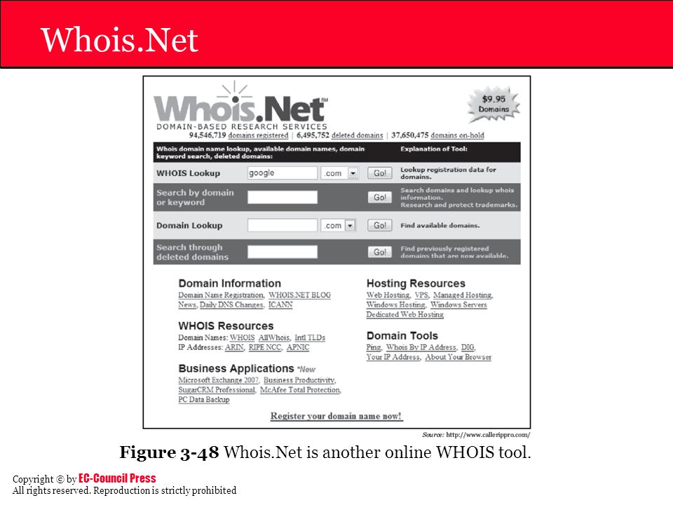 Whois.Net Figure 3-48 Whois.Net is another online WHOIS tool.