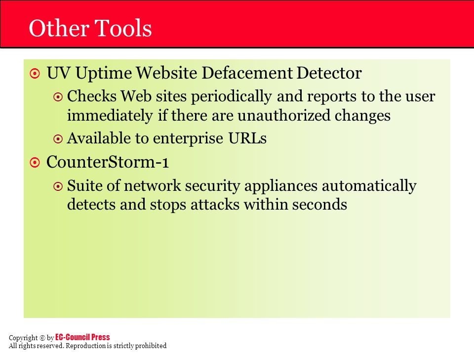 Other Tools UV Uptime Website Defacement Detector CounterStorm-1