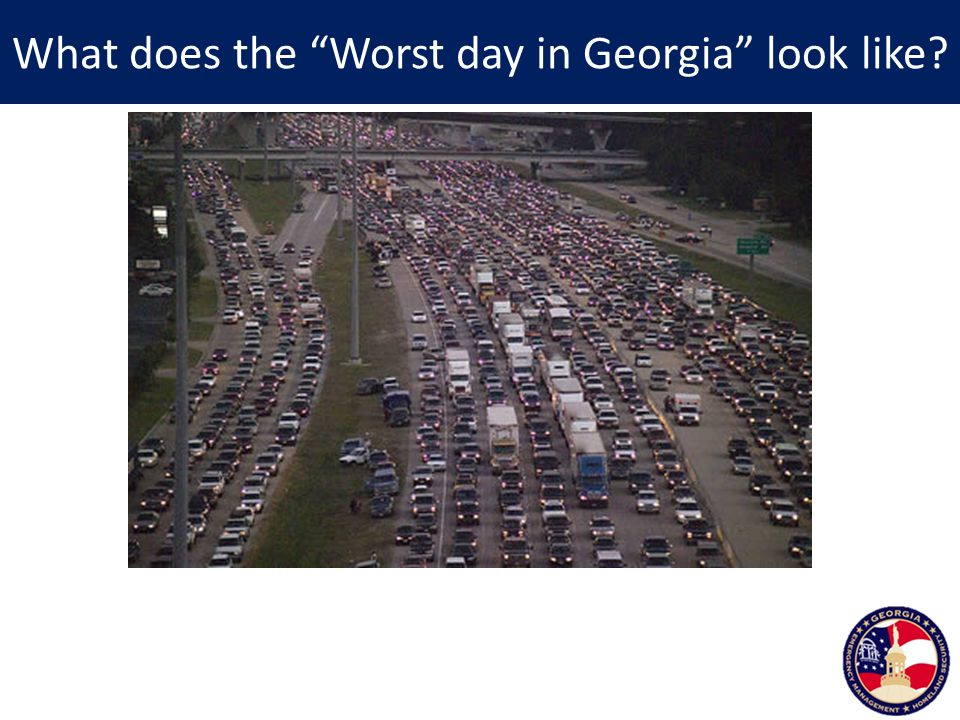 What does the Worst day in Georgia look like