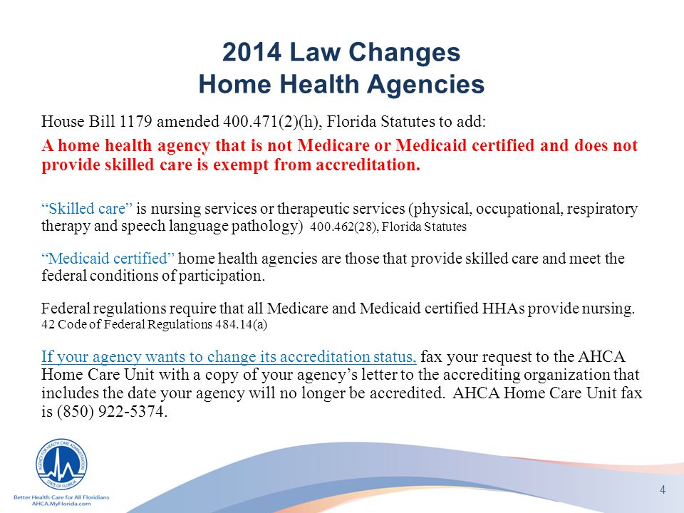 medicare home health care arrest florida