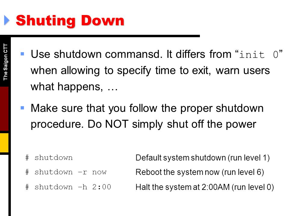 System Startup and Shutdown - ppt download