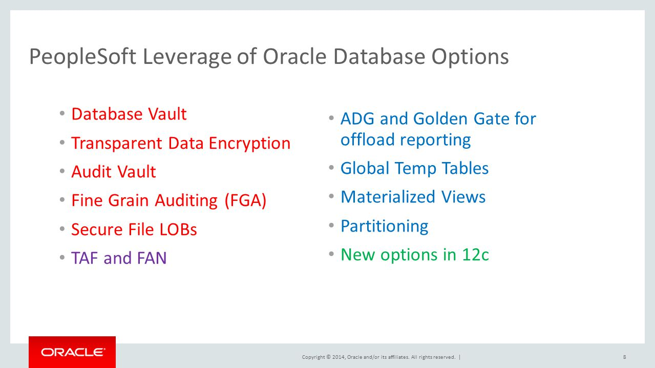 PeopleSoft on Oracle Database ppt download