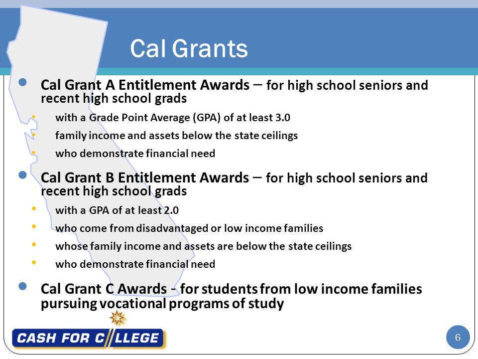 6 Cal Grants