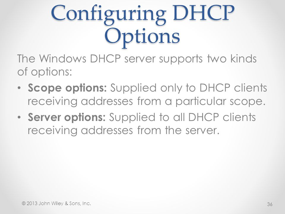 Lesson 11: Deploying and Configuring the DHCP Service - ppt video