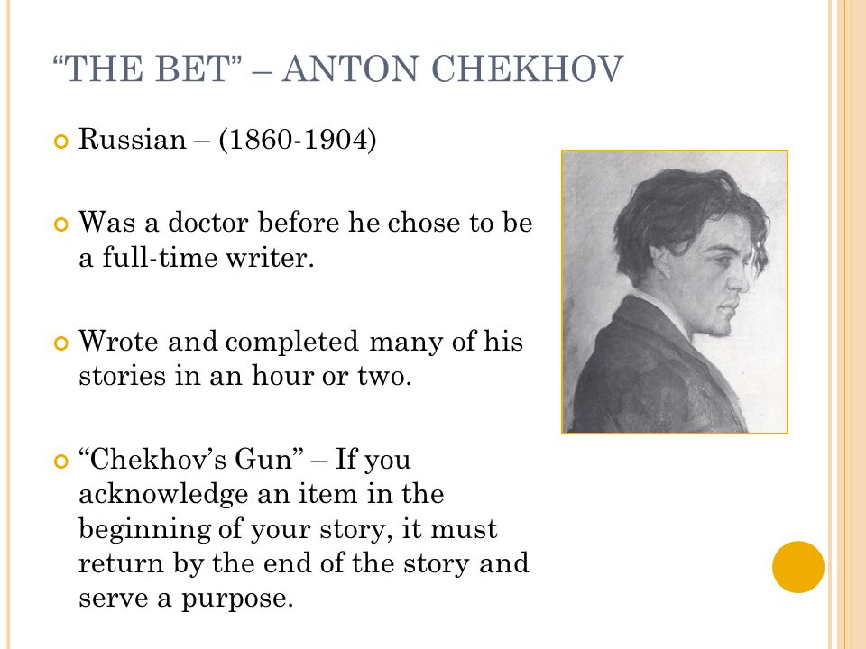 critical analysis of the bet by anton chekhov