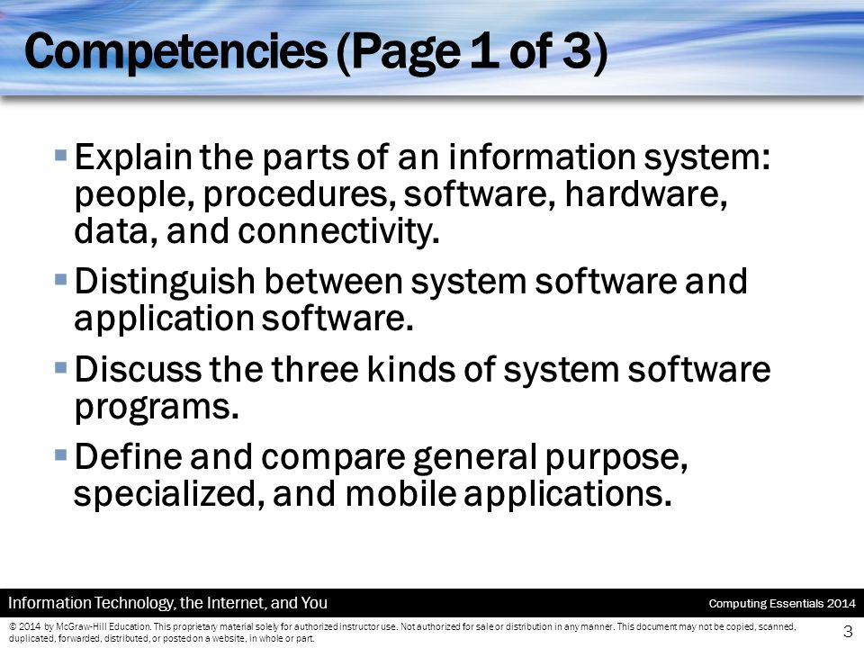 Competencies (Page 1 of 3)