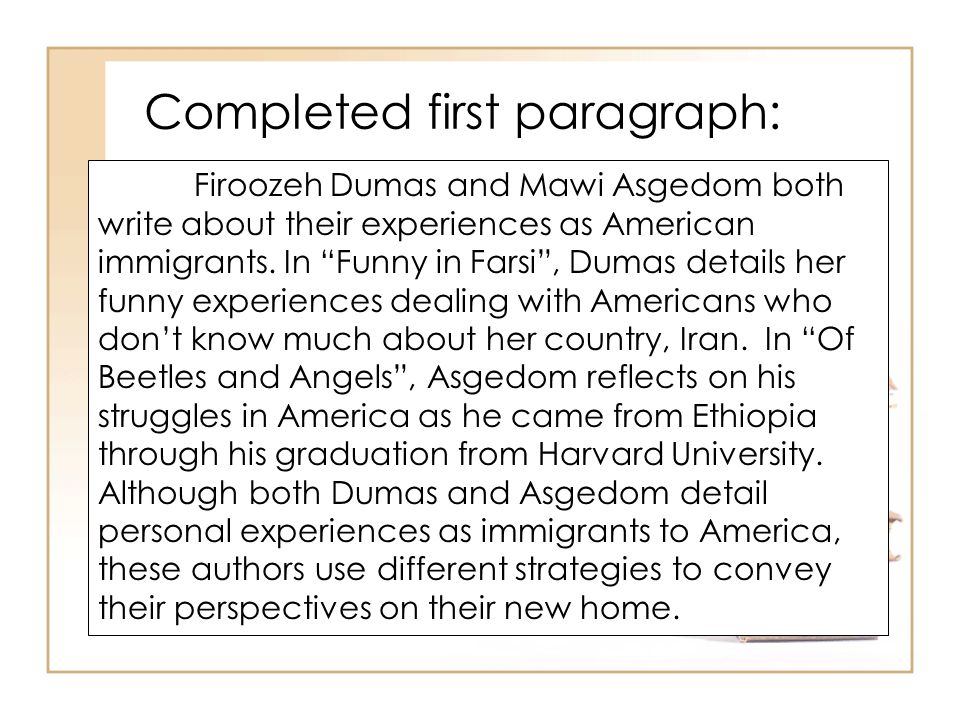 immigrant experience in america essay
