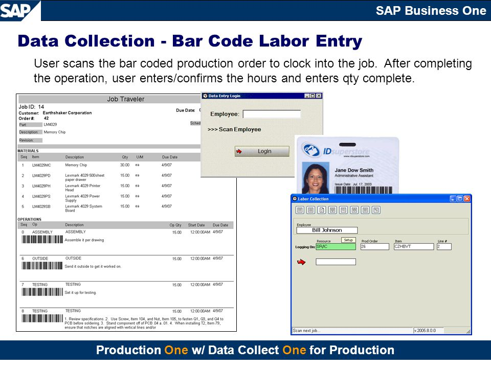 Data Collection - Bar Code Labor Entry