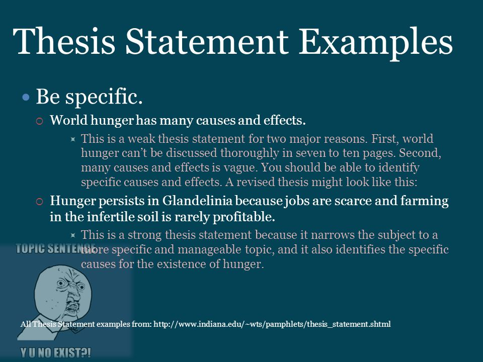 Thesis And Strong Topic Sentences Ppt Download