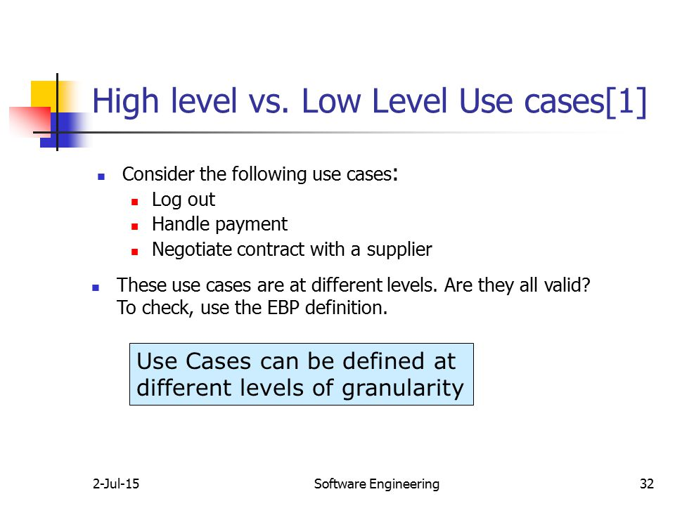 Use case analysis 17 apr 17 software engineering ppt video online high level vs low level use cases1 ccuart Choice Image