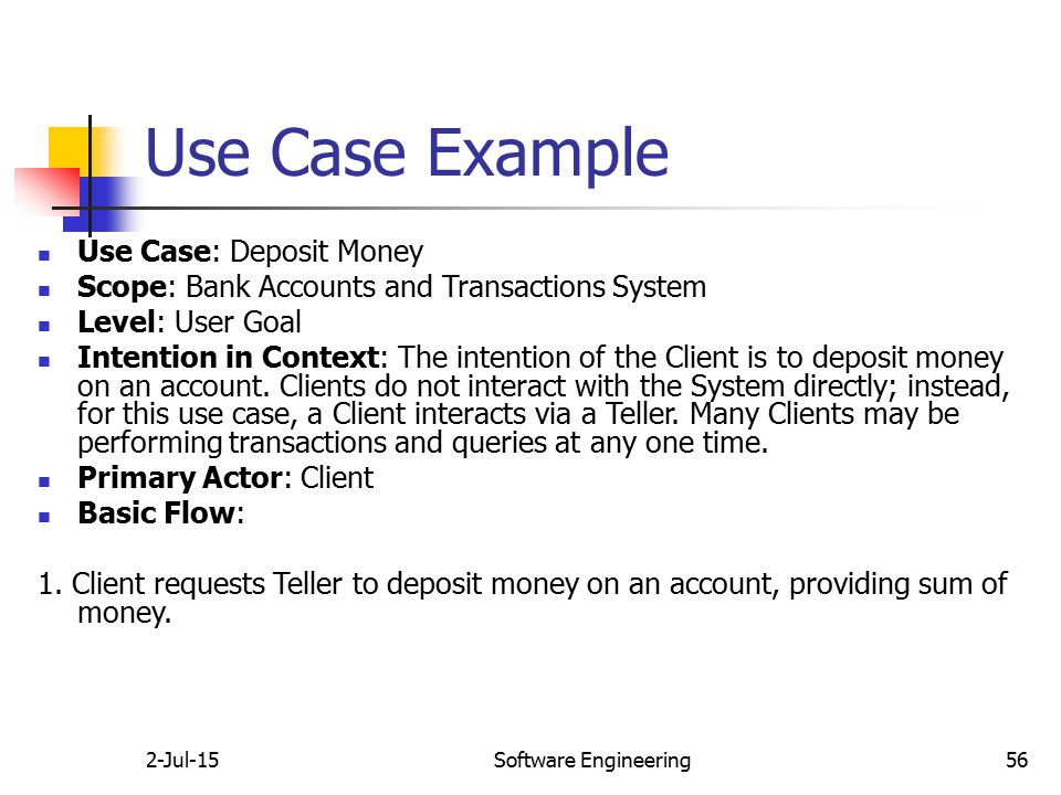 how to do a use case