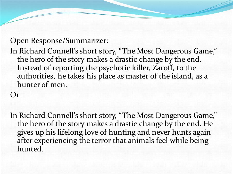 the hunting game short story