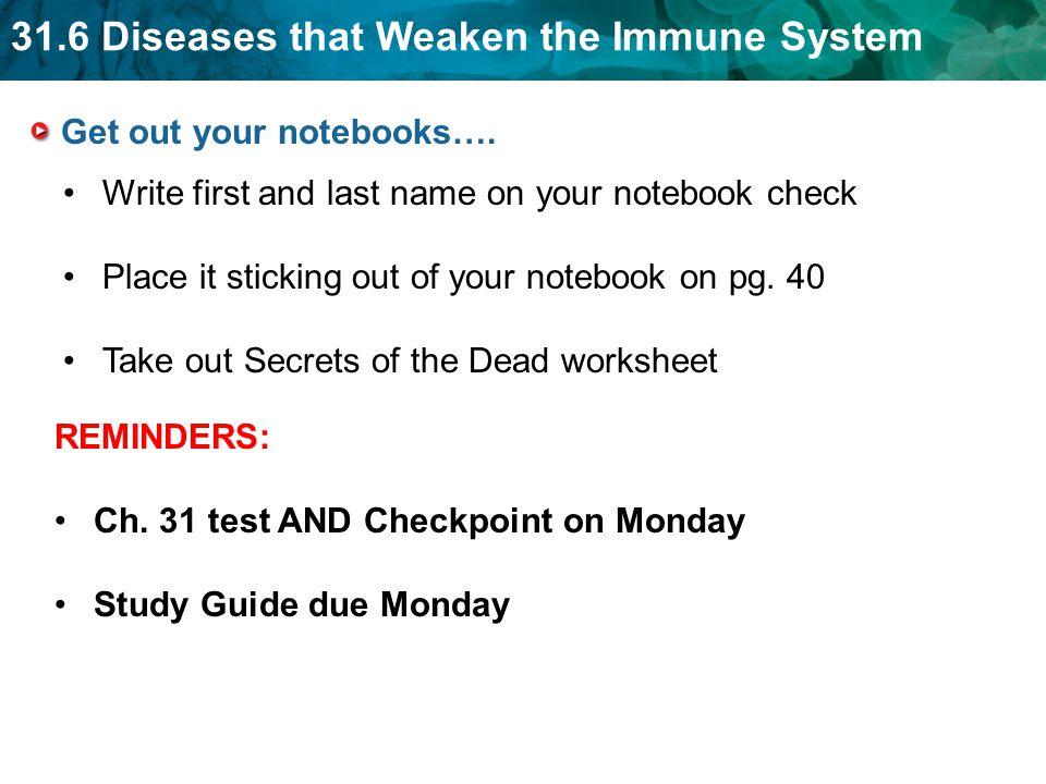 31 6 diseases that weaken the immune system ppt video online download rh slideplayer com Circulatory System Study Guide Digestive System Study Guide