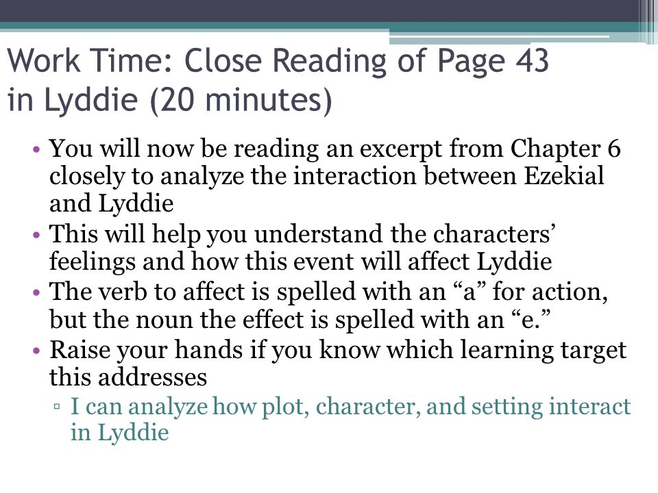 lyddie character analysis