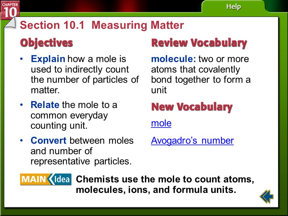 Section 10.1 Measuring Matter