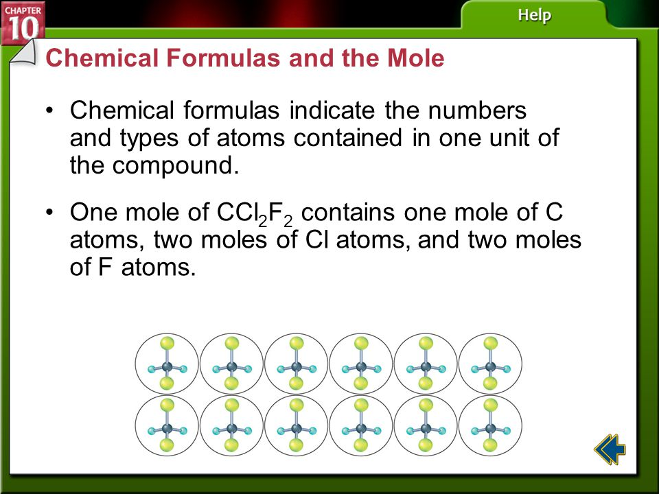 Chemical Formulas and the Mole
