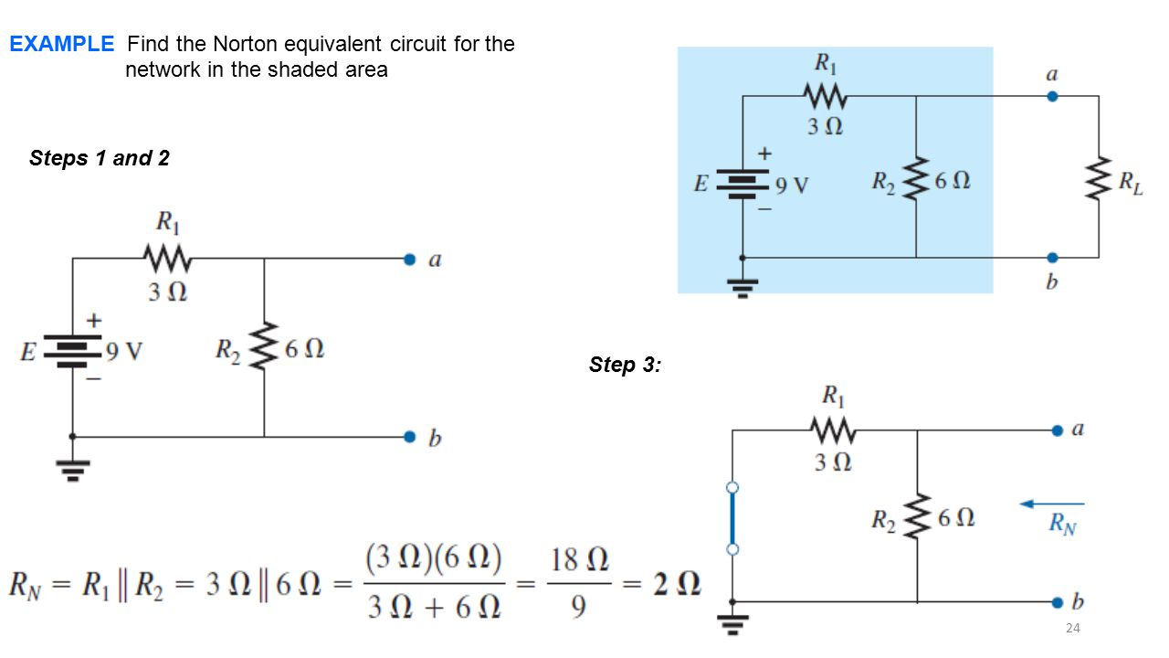 EXAMPLE Find the Norton equivalent circuit for the