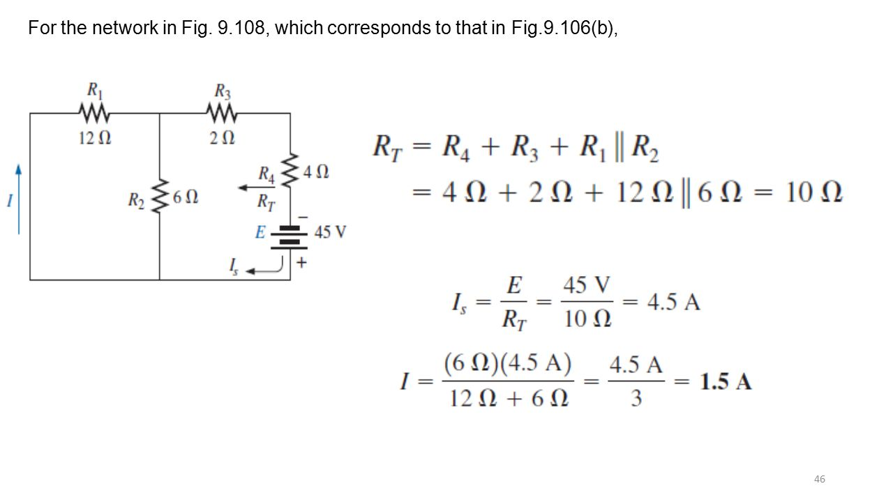 For the network in Fig , which corresponds to that in Fig. 9