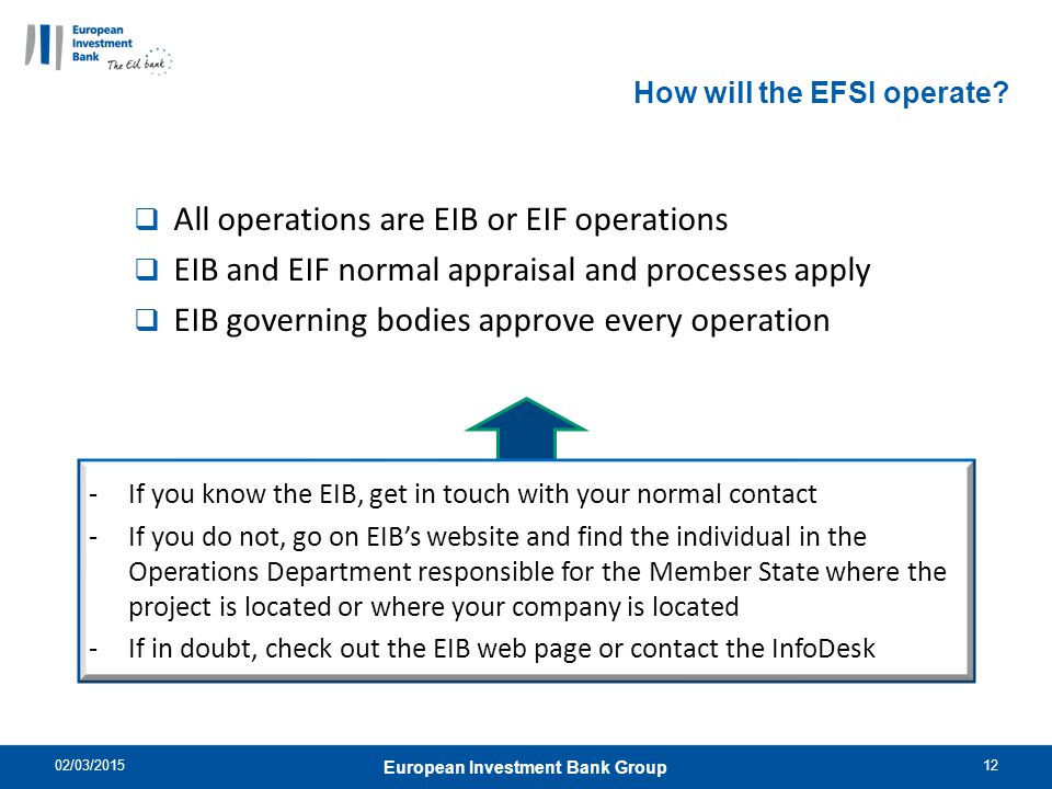 How will the EFSI operate