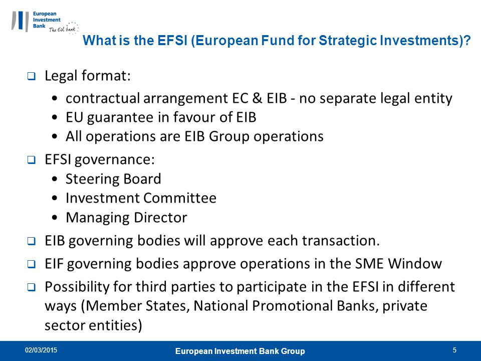 What is the EFSI (European Fund for Strategic Investments)