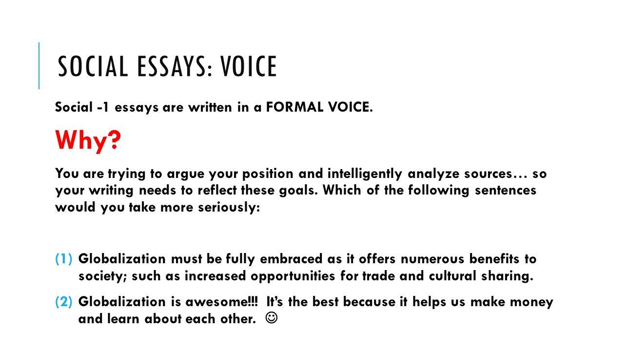 social essay