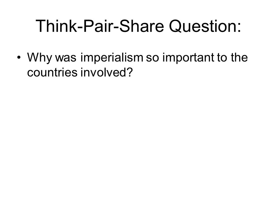 Think-Pair-Share Question: