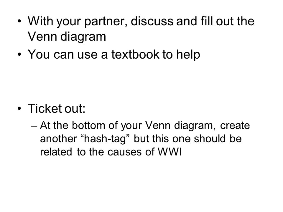 With your partner, discuss and fill out the Venn diagram