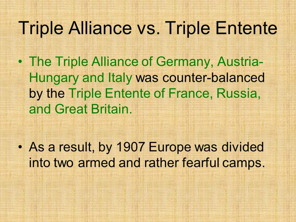 Triple Alliance vs. Triple Entente