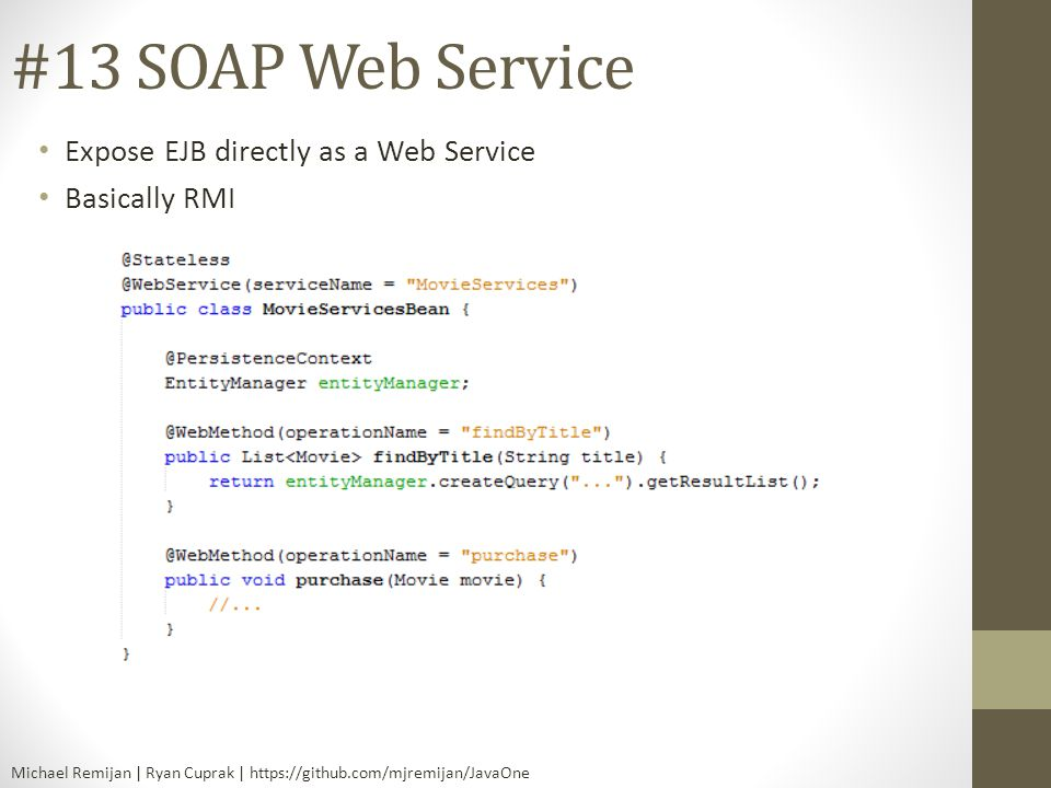 #13 SOAP Web Service Expose EJB directly as a Web Service