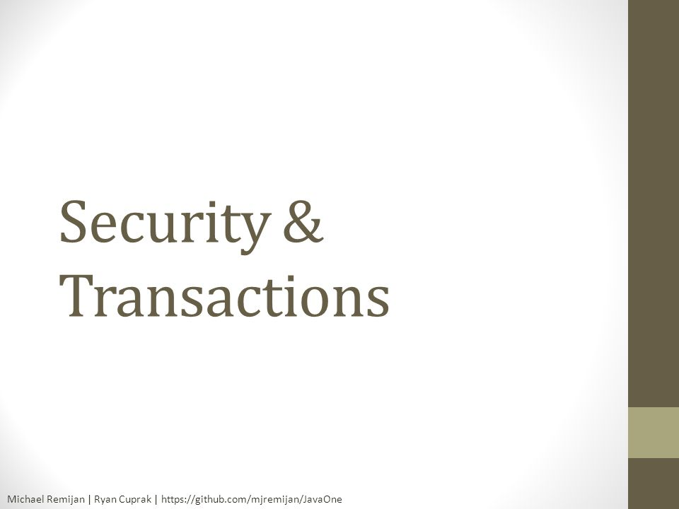 Security & Transactions