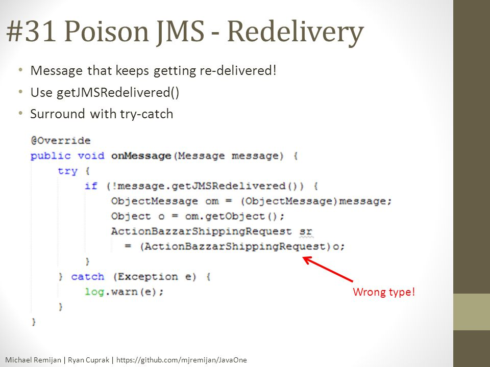 #31 Poison JMS - Redelivery