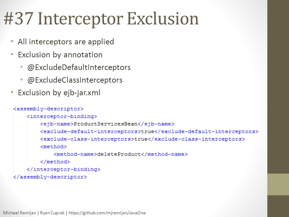 #37 Interceptor Exclusion