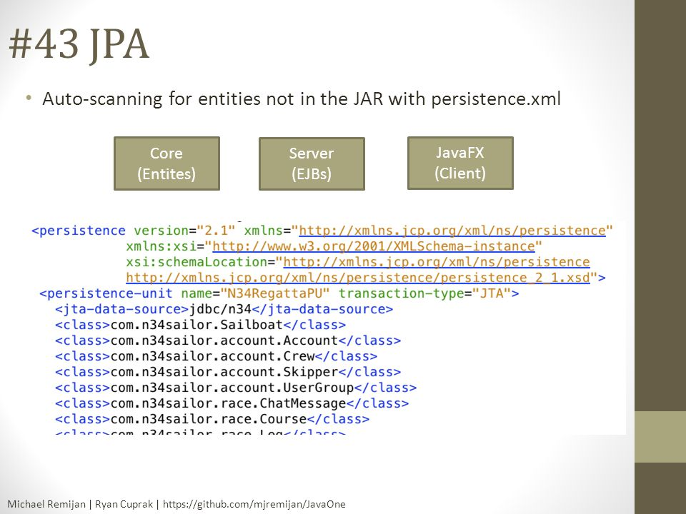 #43 JPA Auto-scanning for entities not in the JAR with persistence.xml