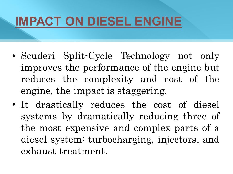 IMPACT ON DIESEL ENGINE