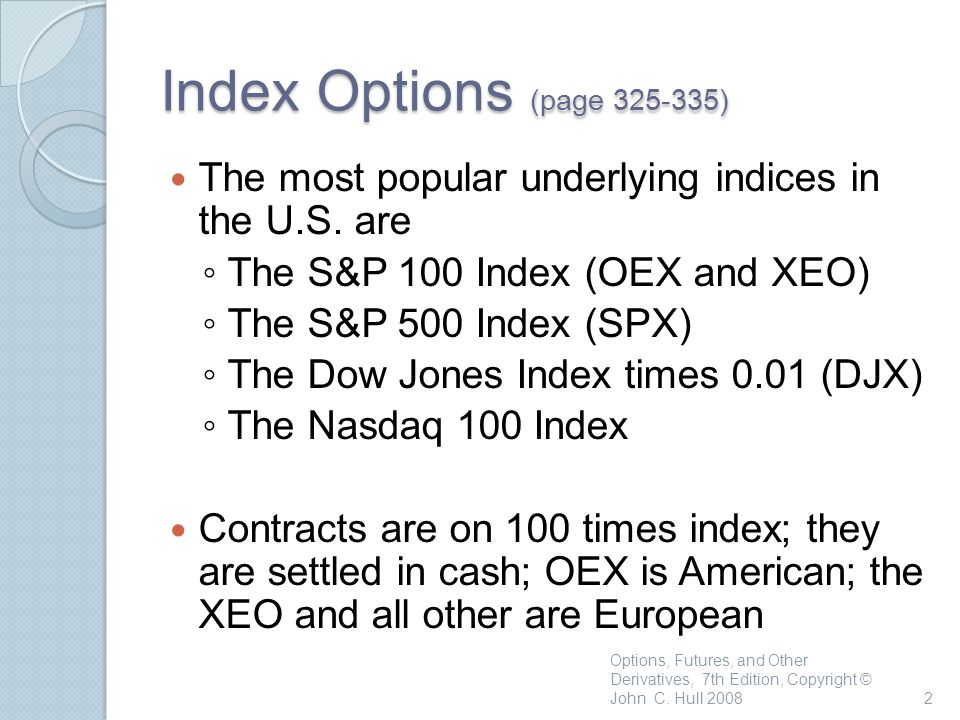 Options on Stock Indices and Currencies - ppt video online download