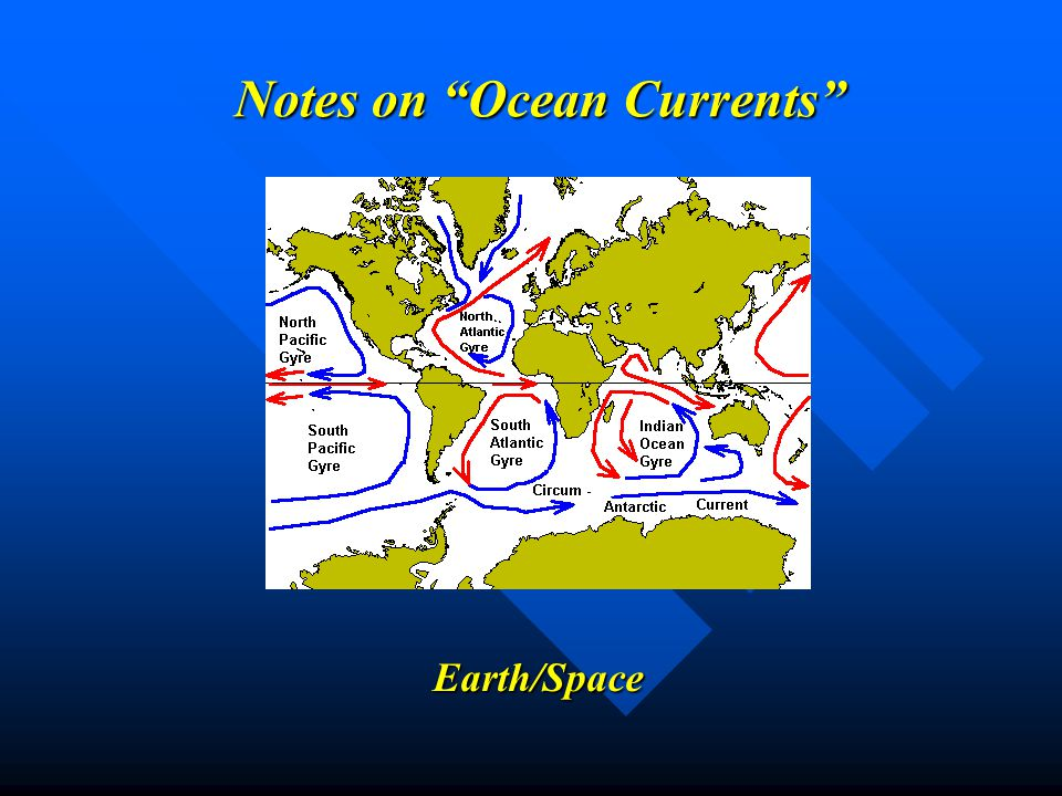 Notes on Ocean Currents