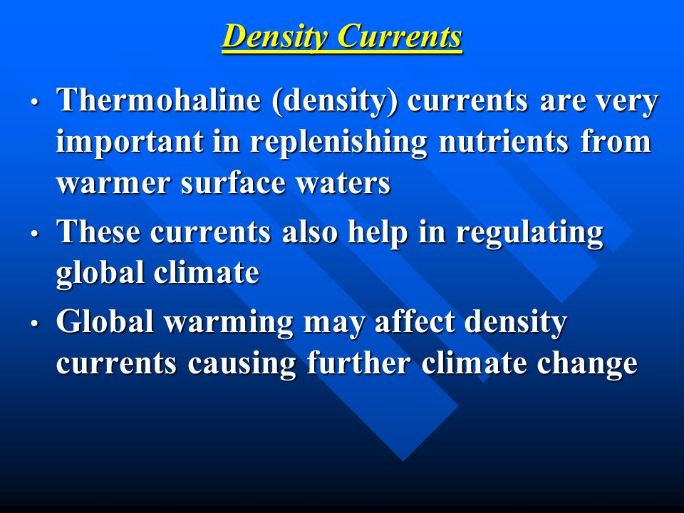 These currents also help in regulating global climate