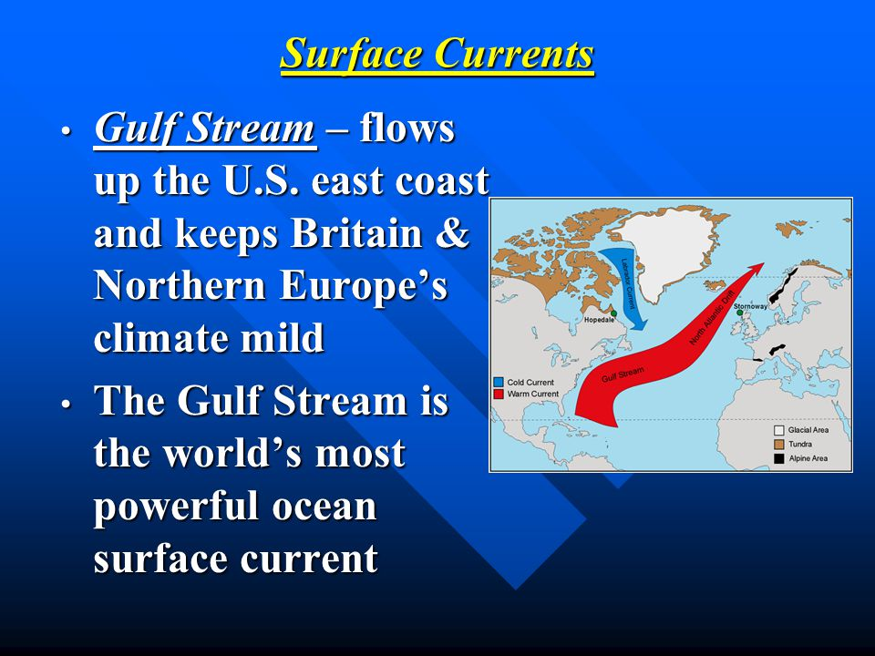 The Gulf Stream is the world's most powerful ocean surface current