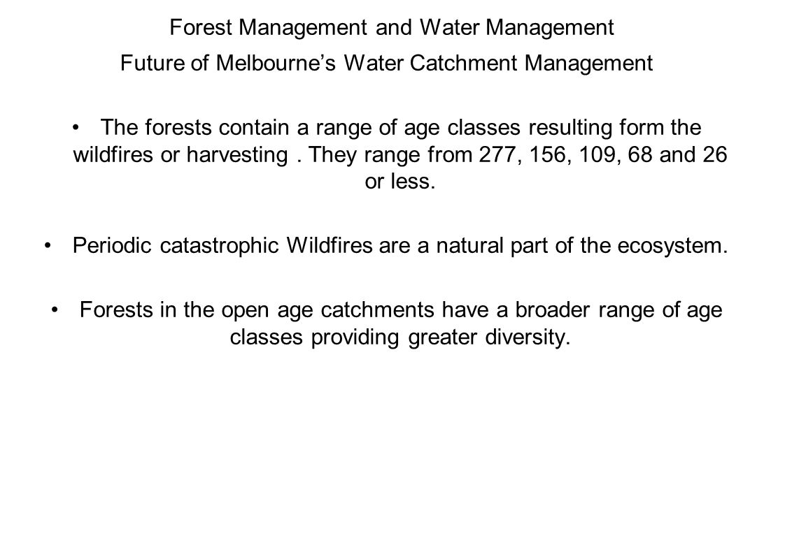 Forest Management and Water Management