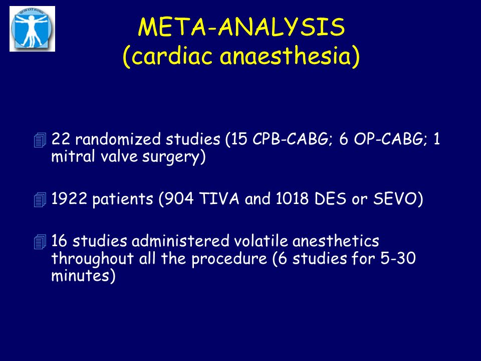 META-ANALYSIS (cardiac anaesthesia)