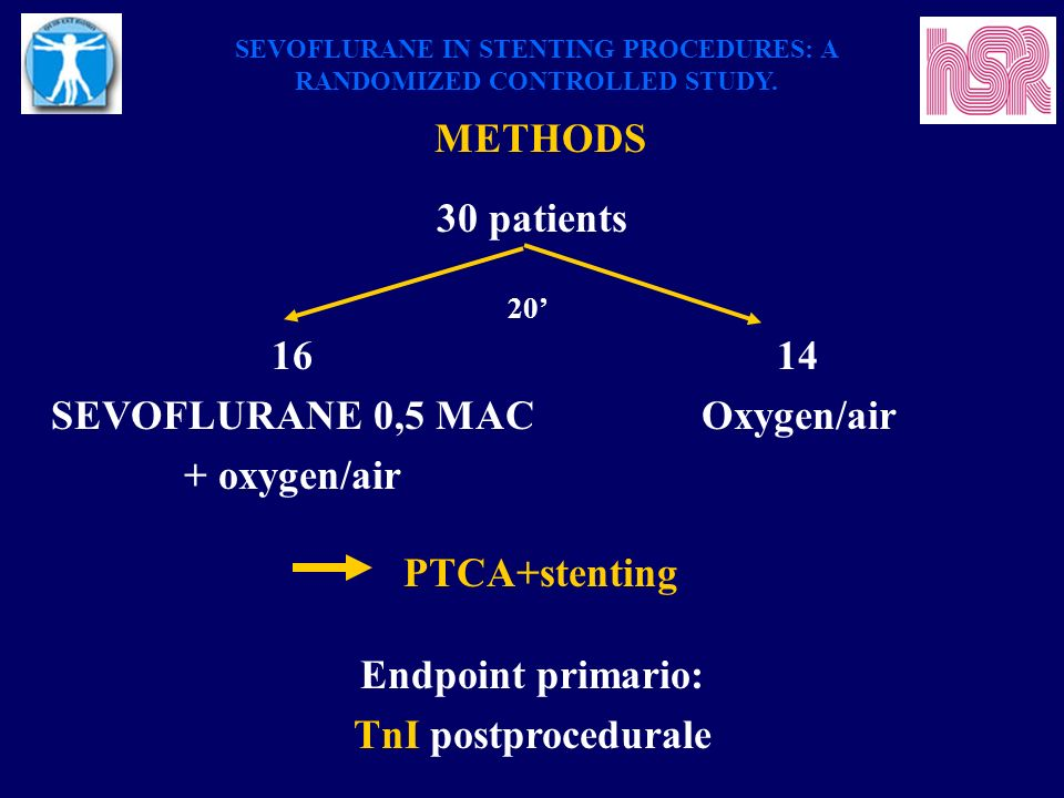SEVOFLURANE IN STENTING PROCEDURES: A RANDOMIZED CONTROLLED STUDY.
