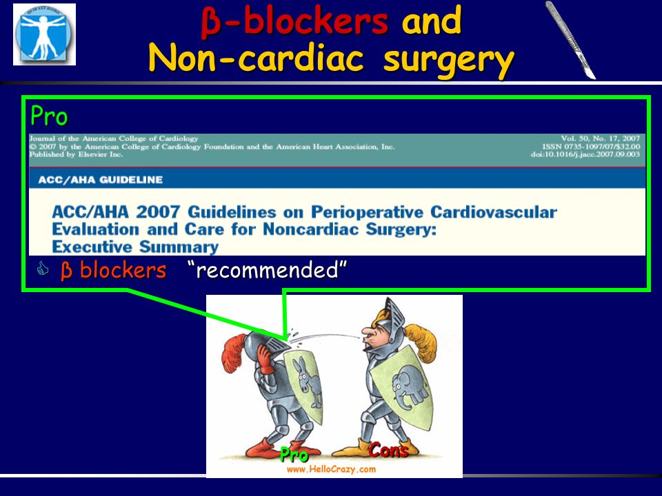 β-blockers and Non-cardiac surgery